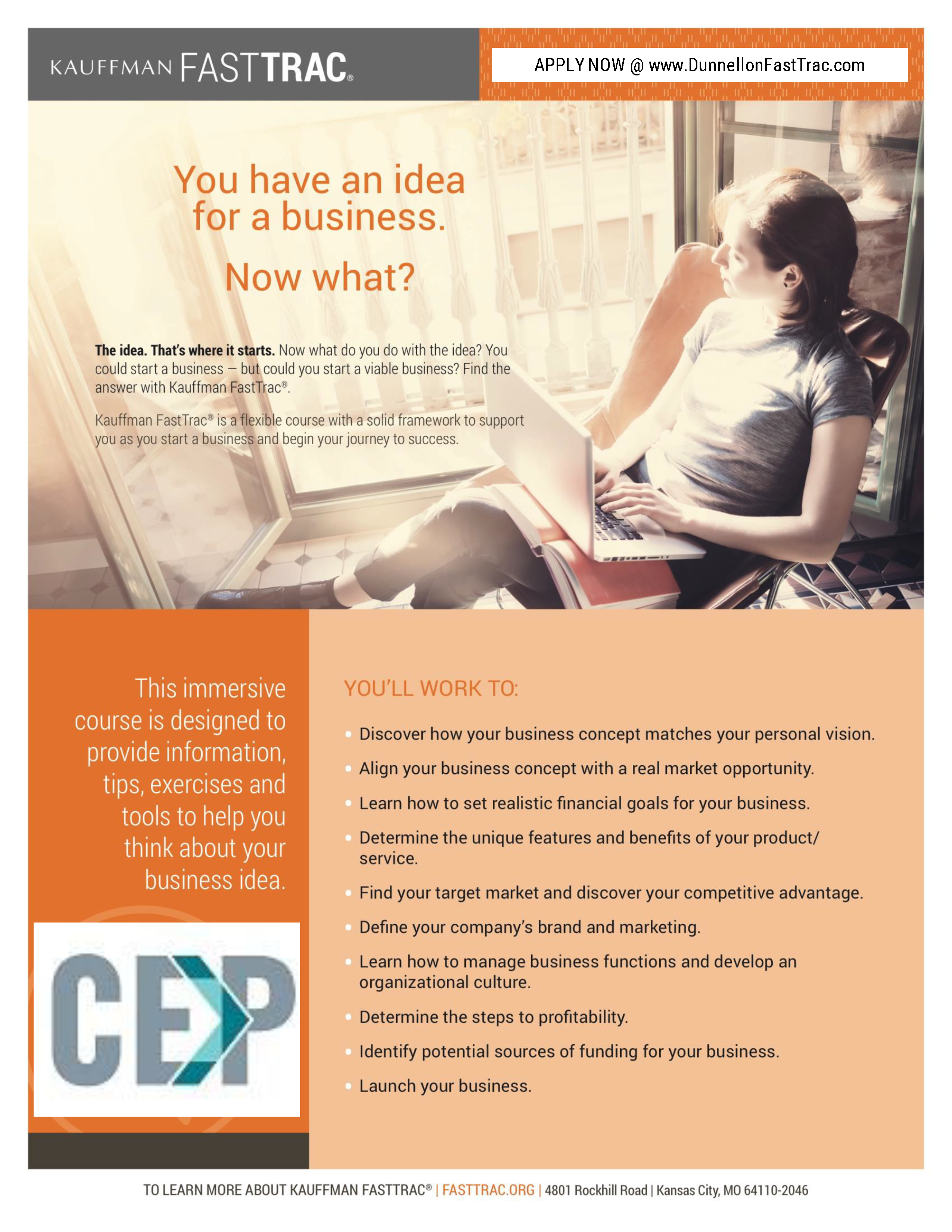 CEP Announces Dunnellon FastTrac Program Beginning in August